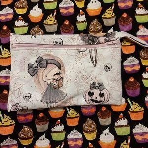 Witchy pumpkin zipper bag